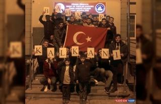 Erzurum'da öğrencilerden Mehmetçiğe manevi destek