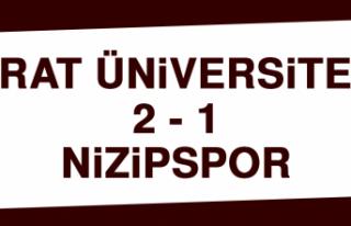 Fırat Üniversitesi 2-1 Nizipspor