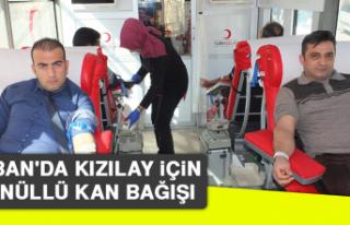 Keban'da Kızılay İçin Gönüllü Kan Bağışı