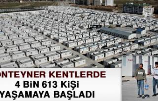 Konteyner Kentlerde 4 Bin 613 Kişi Yaşamaya Başladı