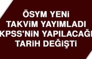 KPSS'NİN YAPILACAĞI TARİH DEĞİŞTİ