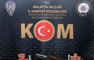 Malatya'da silah kaçakçılığı ve gasp şüphelilerine...