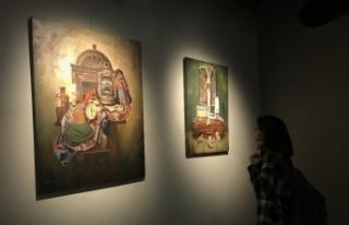 MEDAŞ Sanat Galerisinde öğrencilerden karma resim...