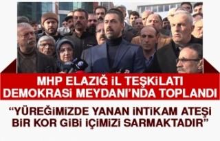 MHP Elazığ Teşkilatı Şehitlerimiz İçin Toplandı