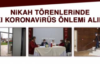 Nikah Törenlerinde Sıkı Koronavirüs Önlemi Alındı