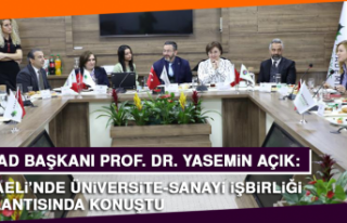 Prof. Dr. Açık, Kocaeli'nde Üniversite-Sanayi...