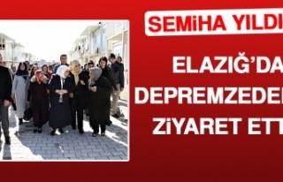 Semiha Yıldırım, Elazığ'da Depremzedeleri Ziyaret...