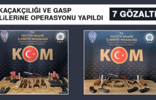 Silah Kaçakçılığı ve Gasp Şüphelilerine Operasyonu...
