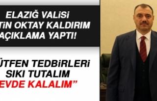 """Vali Kaldırım'dan """"Evde Kalalım""""..."""
