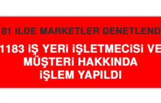 81 İLDE MARKETLER DENETLENDİ