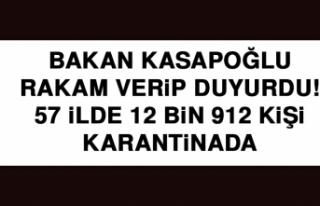 Bakan Kasapoğlu rakam verip duyurdu! 57 ilde 12 bin...