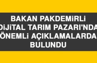 Bakan Pakdemirli Dijital Tarım Pazarı'nda Önemli...