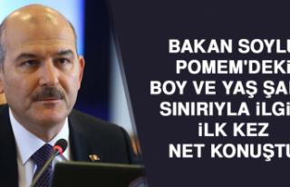 Bakan Soylu, POMEM'deki Boy Ve Yaş Şartı Sınırıyla...