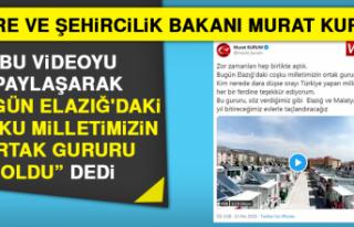 Çevre ve Şehircilik Bakanı Kurum'dan Elazığ...