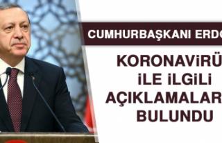 Cumhurbaşkanı Erdoğan'dan Koronavirüs İle...