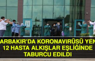 Diyarbakır'da Korona Virüsü Yenen 12 Hasta Alkışlar...