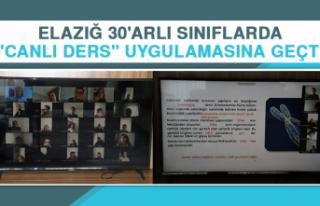 """Elazığ 30'arlı Sınıflarda """"Canlı Ders""""..."""