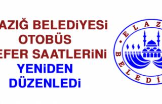 Elazığ Belediyesi Otobüs Sefer Saatlerini Yeniden...