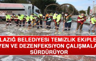 Elazığ Belediyesi Temizlik Ekipleri Hijyen ve Dezenfeksiyon...