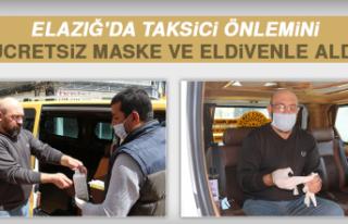Elazığ'da Taksici Önlemini Ücretsiz Maske...