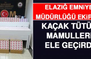 Elazığ Emniyet Müdürlüğü Ekipleri Kaçak Tütün...