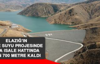 Elazığ'ın İçme Suyu Projesinde Ana İsale...