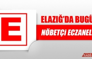 Elazığ'da 9 Nisan'da Nöbetçi Eczaneler