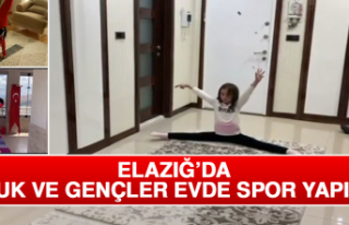Elazığ'da Çocuk ve Gençler Evde Spor Yapıyor