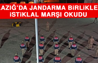 Elazığ'da Jandarma Birlikleri İstiklal Marşı...