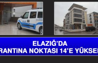 ELAZIĞ'DA KARANTİNA NOKTASI 14'E YÜKSELDİ