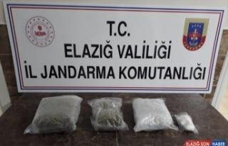 Elazığ'da uyuşturucu operasyonunda iki kişi gözaltına...
