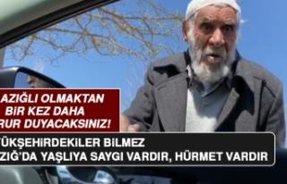 Elazığ'da Yaşlı Amcayla Vatandaşın Konuşması...