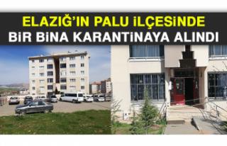 Elazığ'ın Palu İlçesinde Bir Bina Karantinaya...