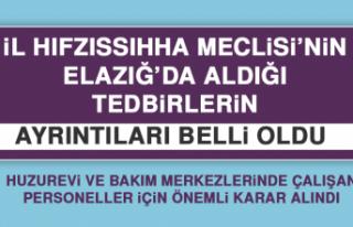 İl Hıfzıssıhha Meclisi Elazığ'da Yeni Tedbirler...