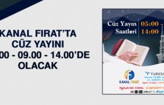Kanal Fırat'ta Cüz Yayını 05.00, 09.00 ve 14.00'de...