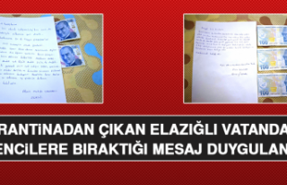 Karantinadan Çıkan Elazığlı Vatandaşın Öğrencilere...