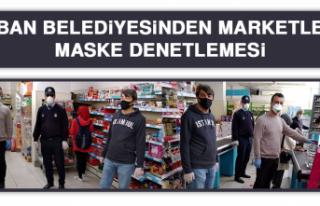 Keban Belediyesinden Marketlere Maske Denetlemesi
