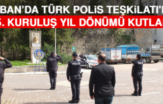 Keban'da Türk Polis Teşkilatı'nın 175....