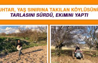 Muhtar, Yaş Sınırına Takılan Köylüsünün Tarlasını...
