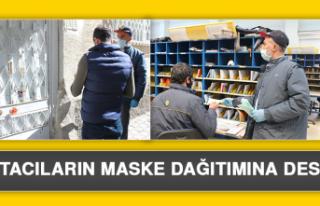 Postacıların Maske Dağıtımına Destek