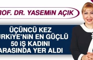 """Prof. Dr. Yasemin Açık, Üçüncü Kez """"Türkiye'nin..."""