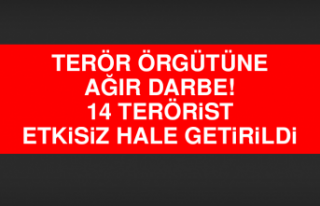 Terör örgütüne ağır darbe! 14 terörist etkisiz...