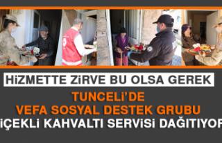 Tunceli'de Vefa Sosyal Destek Grubu Çiçekli Kahvaltı...