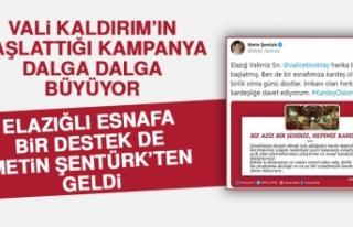 Vali Kaldırım'ın Esnaf Kampanyasına Ünlü...