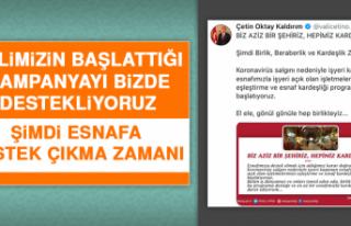 Vali Kaldırım'ın Esnaflarla İlgili Çalışmaları...