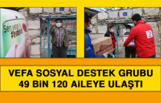 Vefa Sosyal Destek Grubu 49 Bin 120 Aileye Ulaştı