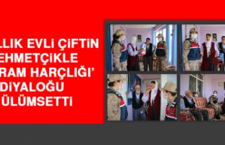 65 Yıllık Evli Çiftin, Mehmetçikle 'Bayram Harçlığı'...