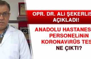 Anadolu Hastanesi personelinin koronavirüs testi...