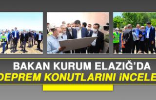Bakan Kurum Elazığ'da, Deprem Konutlarını İnceledi