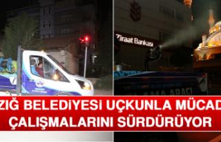 Elazığ Belediyesi Uçkunla Mücadele Çalışmalarını...